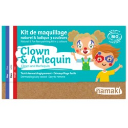 KIT MAQUILLAGE ENFANT CLOWNetARLEQUIN