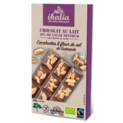CHOCOLAT LAIT CACAHUETE FLEUR SEL 100G