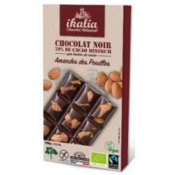 CHOCOLAT NOIR AMANDE 70% 100G