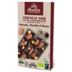 CHOCOLAT NOIR AMANDE RAISIN NOISETTE 100G