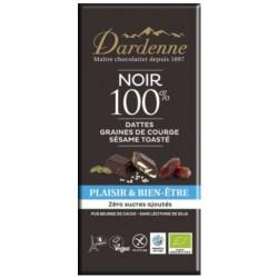 CHOCOLAT NOIR DATTE COURGE SESAME 100G