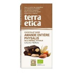 CHOCOLAT NOIR AMANDE PHYSALIS 100G