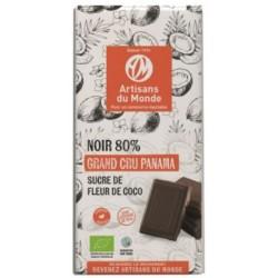 CHOCOLAT NOIR SUCRE DE COCO 80% 100G