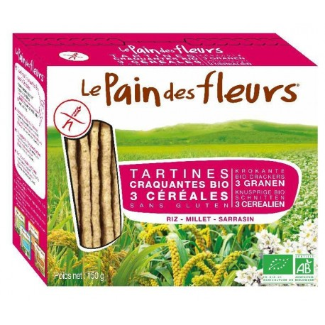 TARTINES CRAQUANTES MULTICEREALES 150GRS