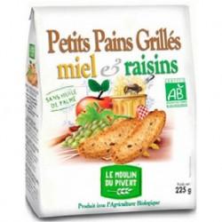 PETIT PAIN GRILLE RAISINS MIEL 225G