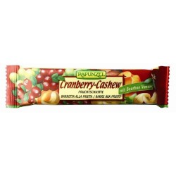 BARRE FRUIT RAISIN CRANBERRY CAJOU 40G