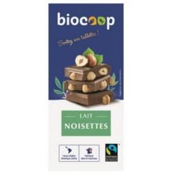 CHOCOLAT LAIT 41% NOISETTES 180G
