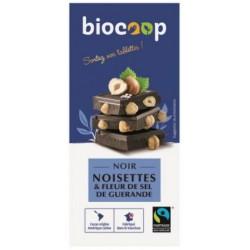 CHOCOLAT NOIR 70% NOISETTES SEL 180G