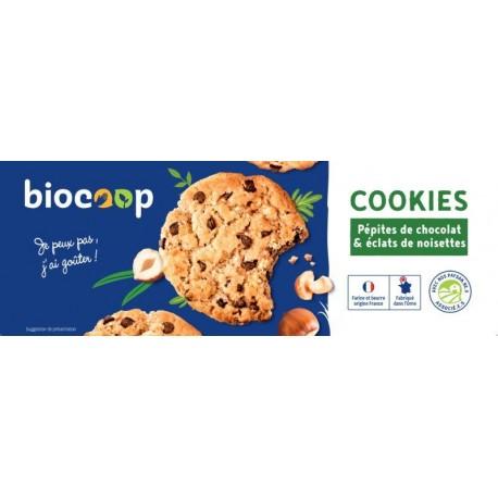 COOKIES CHOCOLAT NOIR NOISETTE 200GRS