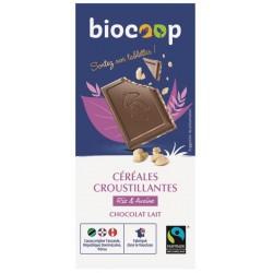 CHOCOLAT AU LAIT AUX CÉRÉALES CROUSTILLANTES 100GRS