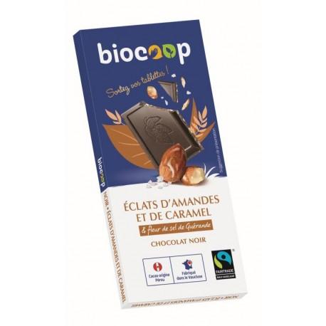 CHOCOLAT NOIR AMANDE CARAMEL 56% 100GRS