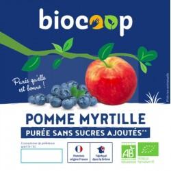 PURÉE DE POMMES MYRTILLES 4 X 100 GRS