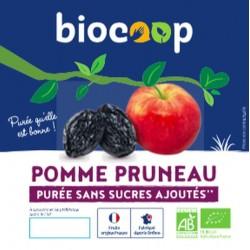 PURÉE DE POMMES PRUNEAUX 4 X 100 GRS