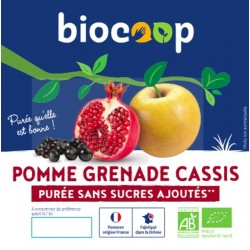PURÉE DE POMME GRENADE CASSIS 4 X 100 GRS