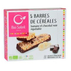 BARRE CEREALE CHOCO NOIR BANANE 130G