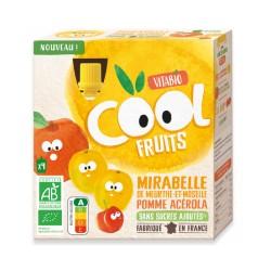 COOL FRUIT MIRABELLE POMME ACEROLA 4X90GRS