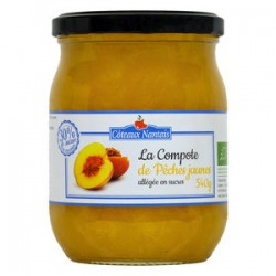 COMPOTE PÊCHE JAUNE ALLEGEE 540G