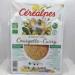 GALETTES COURGETTE CURRY 2X90GRS