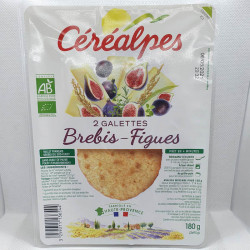 GALETTES FROMAGE BREBIS et FIGUES 2X90GRS