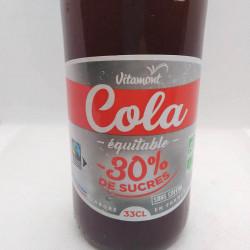 COLA 30% DE SUCRE EN MOINS 33CL