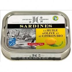 SARDINES HUILE OLIVE CITRON 115G