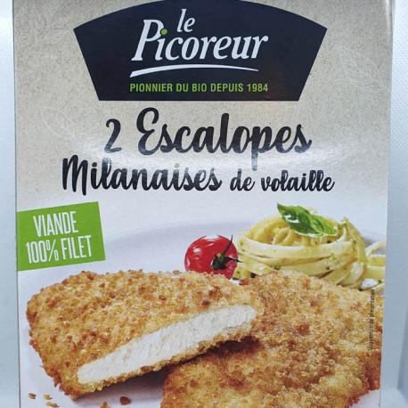 2 ESCALOPES MILANAISES DE VOLAILLES 2X90G