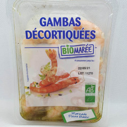 GAMBAS CUITES BASILIC POIVRE 100G
