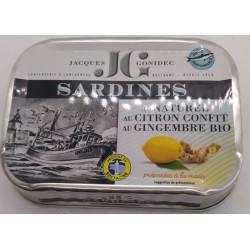 SARDINES CITRON CONFIT GINGEMBRE 115G
