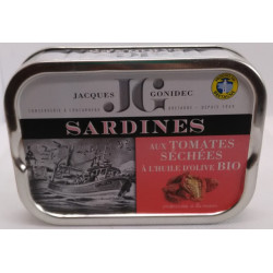 SARDINES HUILE D'OLIVE TOMATES SECHEES 115G