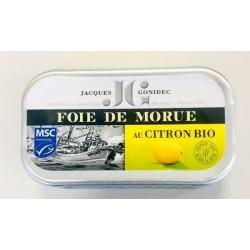 FOIE DE MORUE FUME AU CITRON 120 GRS