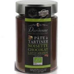 PÂTE À TARTINER NOISETTE CHOCOLAT LAIT AMANDE 350GRS