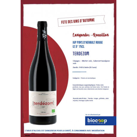 IGP PAYS D HERAULT ROUGE 12.5°