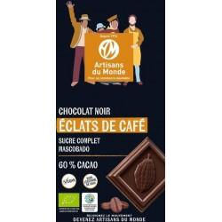 CHOCOLAT NOIR 60% ÉCLATS CAFÉ 100 GRS