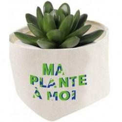 CACHEPOT TISSU CARRE MA PLANTE AMOI 2.7L