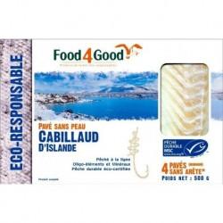 CABILLAUD D ISLANDE PAVES 500G