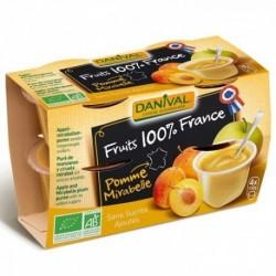 PUREE DE POMME MIRABELLE 100% FRANCE 4X100G