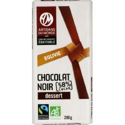 CHOCOLAT NOIR 58% DESSERT MH 200G