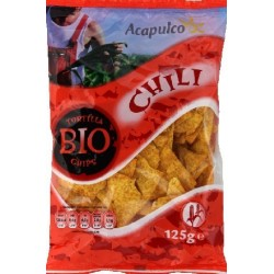 TORTILLA CHIPS MAÏS CHILI 125GRS