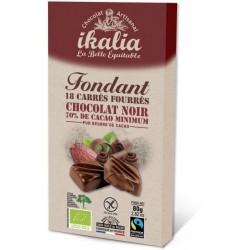CHOCOLAT NOIR 70% FOURRE CHOCOLAT FONDANT 80G