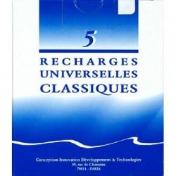 RECHARGES UNIVERSELLES CLASSIQUES (5)