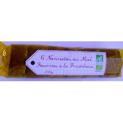 NONNETTES AU MIEL FOURRÉES FRAMBOISE 200 GRS