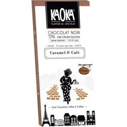 CHOCOLAT NOIR 72% CARAMEL CAFE 100G