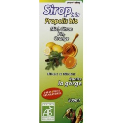 SIROP PROPOLIS MIEL CITRON ORANGE 200ML