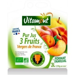 PUR JUS 3 FRUITS VERGERS DE FRANCE 3L