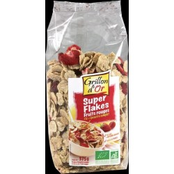 FLAKES RIZ ÉPEAUTRE FRUITS ROUGES 375 GRS