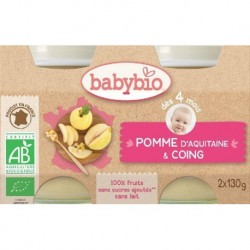 PETITS POTS POMME COING 2 X 130G