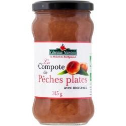 COMPOTE PÊCHE PLATE MORCEAUX 315G