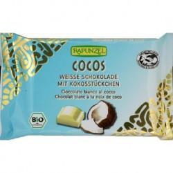 CHOCOLAT BLANC NOIX DE COCO CRISTAL 100G