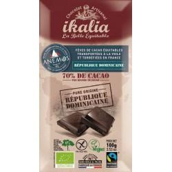 CHOCOLAT NOIR 70% 100GRS VOILE