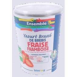 YAOURT BREBIS FRAISE FRAMBOISE 400G RUPTURE